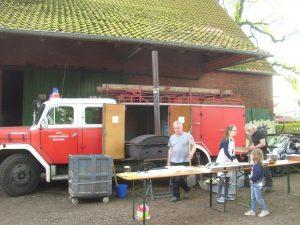 Flammkuchen beim Weinfest rund um die... @ ...Kirche in Garbsen-Horst